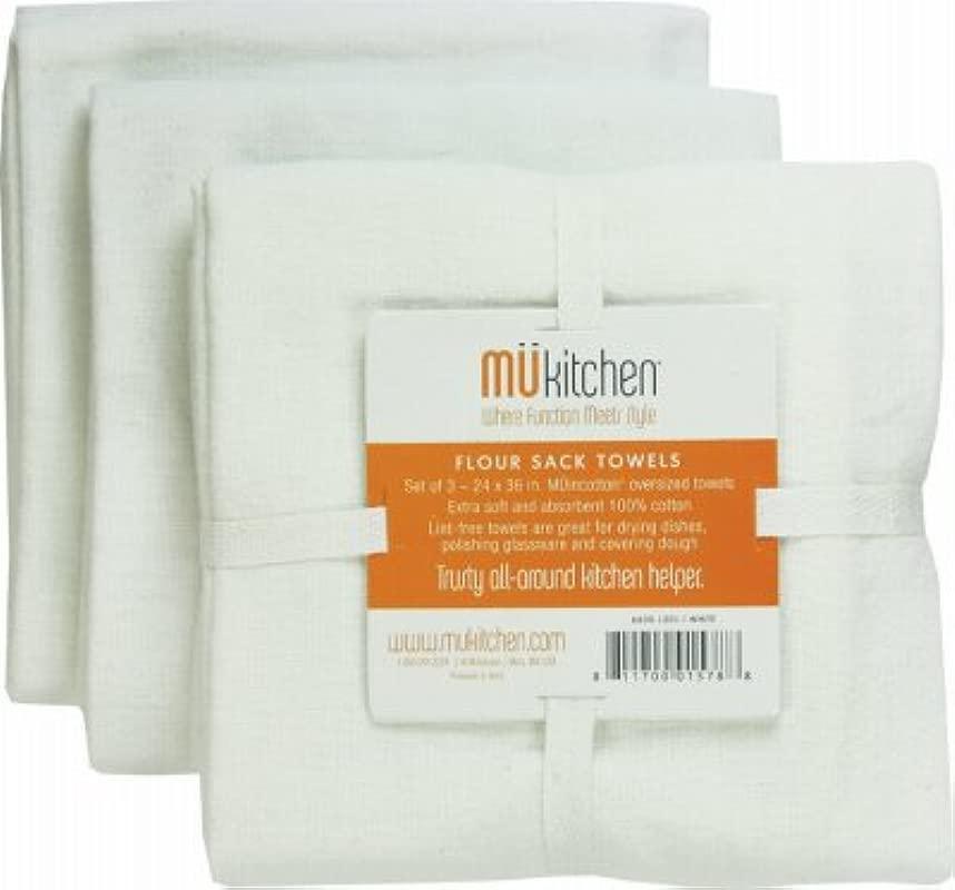DISHTWL FLRSCK WHITE 3PK By MU KITCHEN MfrPartNo 6600 1201