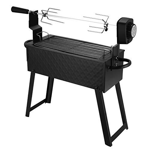 BITOWAT Set di spiedo elettrico per barbecue, set di barbecue elettrico, grande grill, portatile USB/batteria, per balcone, giardino, esterni, campeggio, fuochi di campo