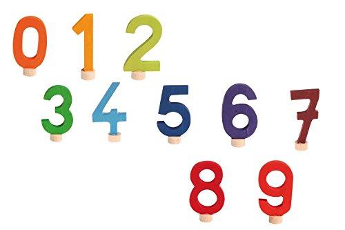 Preisvergleich Produktbild Grimms Spiel und Holz Design Stecker Zahlen Set 0-9,  Grimm's