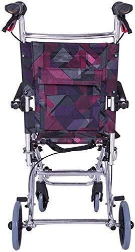 Busirsiz Silla de ruedas de aluminio ligera con reposabrazos de esponja seguro y cómodo, tamaño desplegado 78 x 47 x 92 cm, peso neto 6,3 kg, adecuado para personas mayores y discapacitados