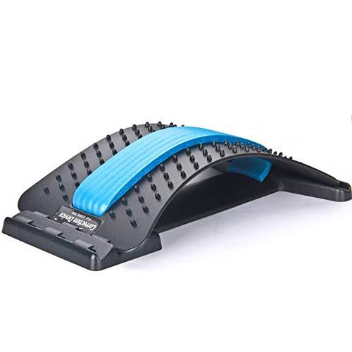 Bluelliant Back Stretcher Support Dispositivo De Estiramiento De La Espalda Masajeador De Acupuntura para La Espalda Soporte Lumbar Relajante Ajustable (3 Modos)
