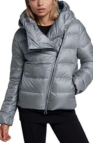 Nike Women's Sportswear Puffer Down Jacket Black Cool Grey 854767 065 (XL)