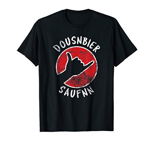 DOUSNBIER SAUFNN Lustiges Dosenbier Saufen Bier Party Meme T-Shirt