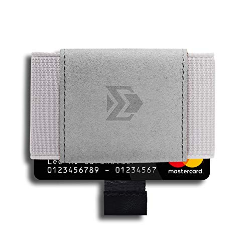Elastic Slim Minimalist Wallet - Front Pocket Credit Card holder with Pull-Tab