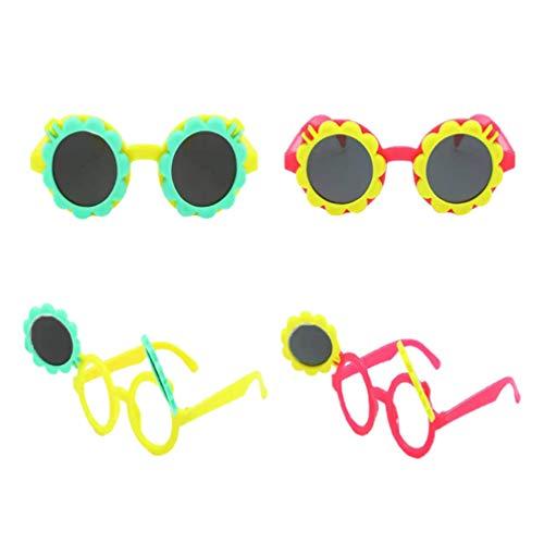 VALICLUD Playa Novedad Gafas de Sol Nios Gran Tamao Girasol Flip Gafas Divertidas de Fotografa Accesorios de Cabina de Fotos 4 Piezas