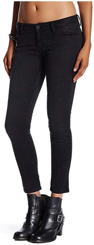 Etienne Marcel Womens Denim Stretch Skinny Jeans Black 27