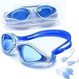 riptide Gafas de natación - Gafas de Buceo con Caja de Almacenamiento, Clip Nasal y Tapones para los oídos | para Mujeres, Hombres y Adolescentes a Partir de 12 años | reflejado o no reflejado