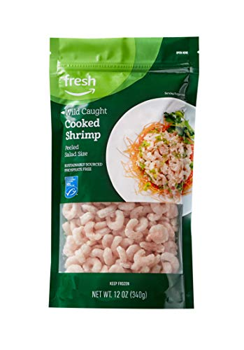 Fresh Brand – Wild Caught Cooked Salad Size Shrimp, 12 oz (Frozen), Sustainably Sourced, Phosphate Free