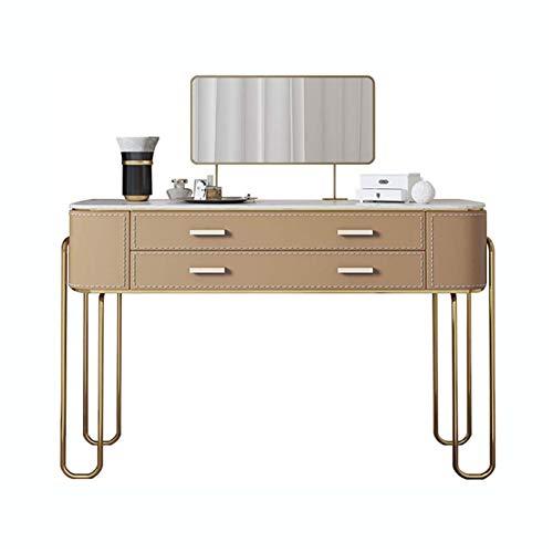 DJDLLZY Juego de escritorio de vanidad, con espejo de maquillaje y silla, tocador con cajones, organizador de joyas, cosméticos, tocador para mujeres/niñas, muebles de dormitorio