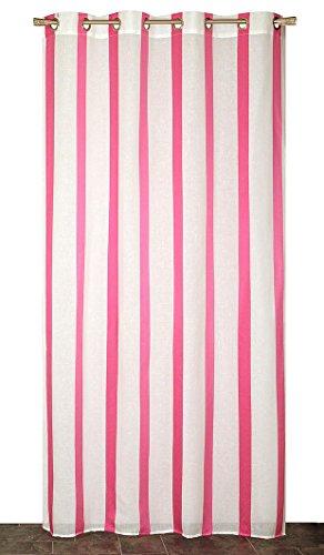 Atout Ciel Rideau - Panneau Prêt à Poser, Polyester, Rose, 140x240x5 cm