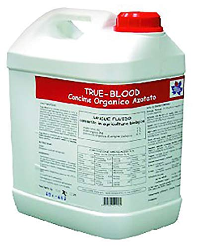 VIALCA True Blood 5KG-25KG Sangue Liquido Consentito in Agricoltura Biologica CONCIME Organico AZOTATO (25KG)