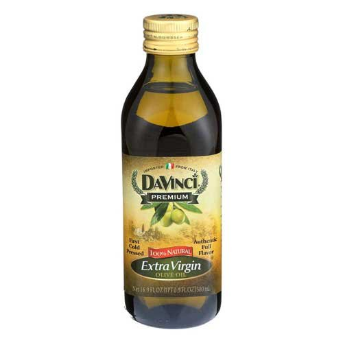 DaVinci Extra Virgin Olive Oil, 17-Ounce Glass (Pack of 2)