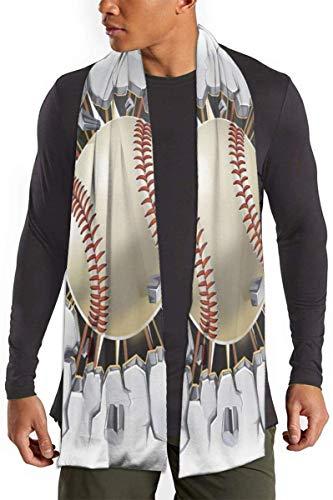 Honkbal Oude Pleister Beton Muur Schade Sjaal voor Vrouwen Mannen Lichtgewicht Unisex Mode Herfst Winter Sjaals Sjaal Wraps