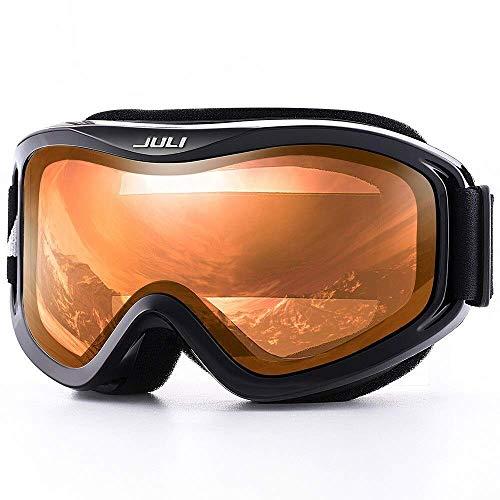 Chunjiao Skibrillen, Schneesport-Snowboard über Gläserbrillen mit Anti-Nebel-UV-Schutz Doppellinse für Männer Frauen & Jugend-Schneemobil Skibrille (Color : C3 Citrus ORANGE)