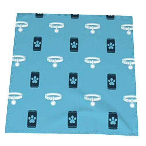 Axige888 Set Online Clínica Veterinaria Símbolo Cuadrado tela de poliéster mantel 50 cm plegable restaurante multiusos 4 paquetes