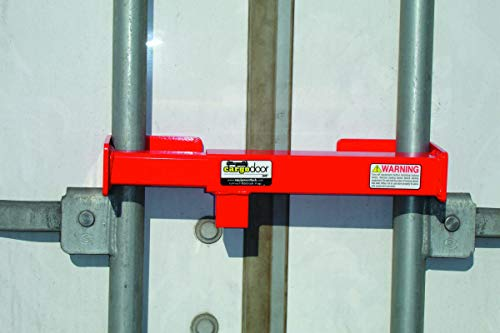 Cargo Door Lock CDL Keyed secures The Vertical Lock rods on Swing Doors Together on All semi Trailers, Safety Red