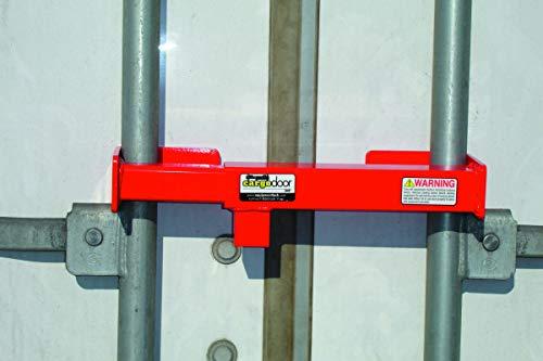 Cargo Door Lock CDL - Steel Cargo Door Lock - Truck Accessories & Storage - Maximum Security Door Lock - for Semi Trailer Trucks & Containers - Safety Red