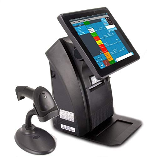 """Windows 12"""" All-in-ONE Kassensystem für Einzelhandel, Kiosk, Imbiss, Strassenverkauf, Laden: Touschscreen, Bondrucker, Kundenanzeige, Barcodescanner. GDPdU, GoBD, TSE-Konform"""