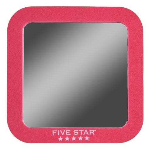 "Five Star Locker Accessories, Locker Mirror, Magnetic, 5-1/2"" x 5-1/2"", Red (72564)"