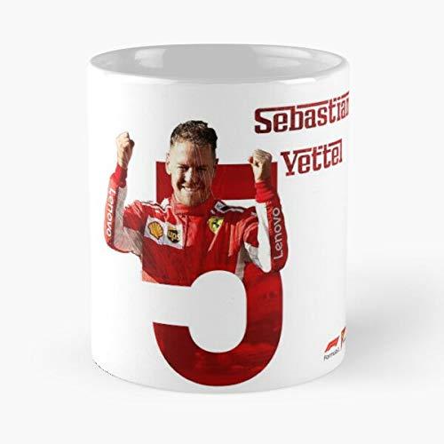 5TheWay Mug Vettel Sebastian Standardkaffee 11 Unzen Geschenk Tassen für alle