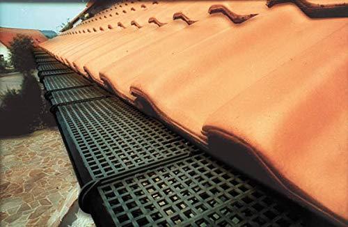Westfalia Dachrinnen Schutzgitter, Kunststoff bis RG150, Länge 3m, 12 Clips