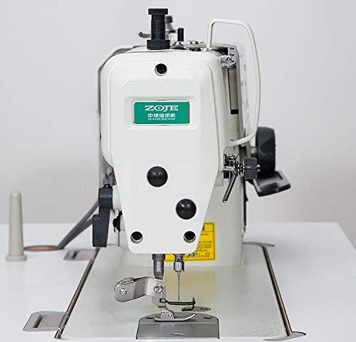ZOJE Máquina de coser industrial, para tejidos más gruesos, máquina de coser industrial, completa (montada, con mesa y estructura), placa de mesa individual