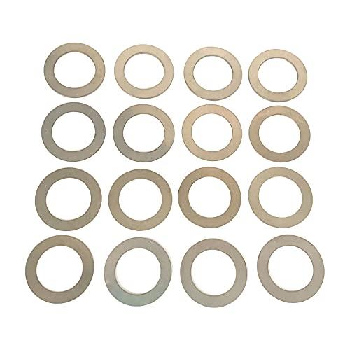 Barrel Shim Kit 1/2x28 | 5/8x24 Muzzle Brake Alignment 16 Pieces (1/2x28,Round)