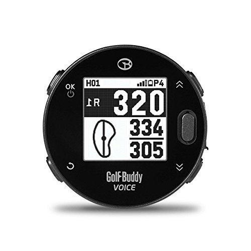 GolfBuddy Voicex Easy-to-Use Smart Talking Golf GPS,...