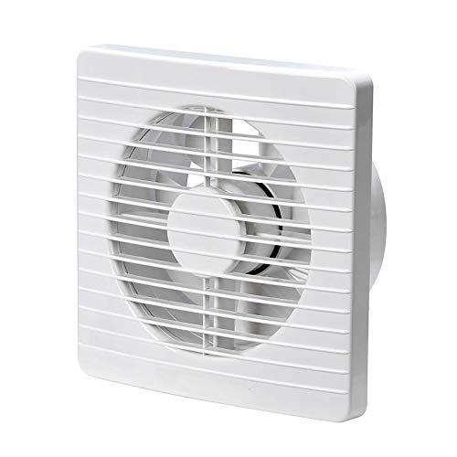 BTOPER Extractor Fan,Square Ceiling Exhaust Fan Aesthetic Elegant Slim Design Extractor Ceiling Ventilation Fan for Bathroom Kitchen Basement 4 Inch 100mm