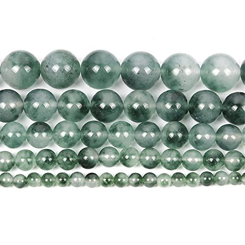 Piedra natural de calcedonia acuática encanto redondo cuentas sueltas para hacer joyas costura pulsera DIY Strand 4-12 mm H8144 8mm aproximadamente 48pcs