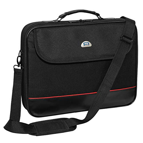 PEDEA Trendline Clamshell Laptop Bag Case 20.1 inch with shoulder strap and sturdy protective frame, black