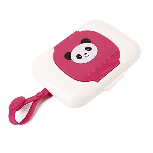 Panda Patroon Natte doekjes Opbergdoos Baby Draagbare Natte Tissue Box Reizen Kinderwagens Natte doekjes Doos Kinderwagen Luiertas