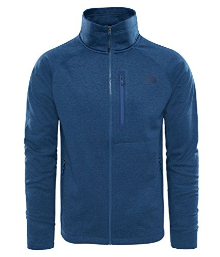The North Face M Canyonlands Full Zip Chaqueta de Forro Polar, Hombre, Azul (Shady Blue Heather), S