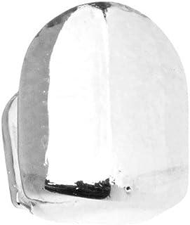 Iced Out - Griglia singola 10 x 8 mm, taglia unica, colore: Argento