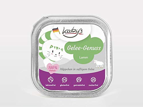 Katzy's Gelee-Genuss Lamm – 16x 100g Schale im Sparpack
