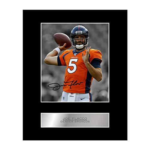 Joe Flacco Signiertes Foto mit Passepartout, Denver Broncos #01 NFL gedrucktes Autogramm, Geschenk, Bild Druck