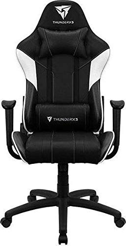 Aerocool Silla Gaming EC3 AERO-EC3-BW (Black and White Color)