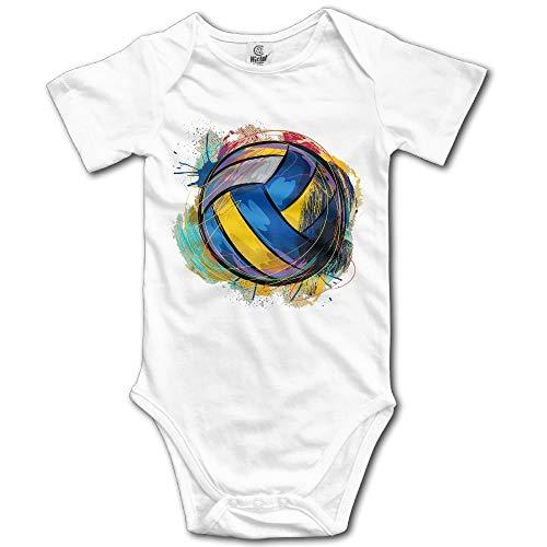 DA OPTZXK Unisex Baby's Climbing Clothes Set Volleyball Bodysuits Romper Short Sleeved Light Onesies for 0-24 Months
