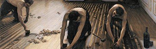 1art1 Gustave Caillebotte - Die Parkettschleifer, 1875, 1-Teilig Fototapete Poster-Tapete 250 x 79 cm