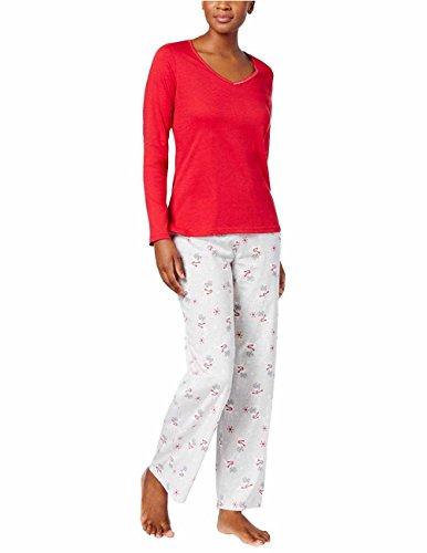 Charter Club 100% Cotton Pajama Set (Prancing Reindeer) (Large)