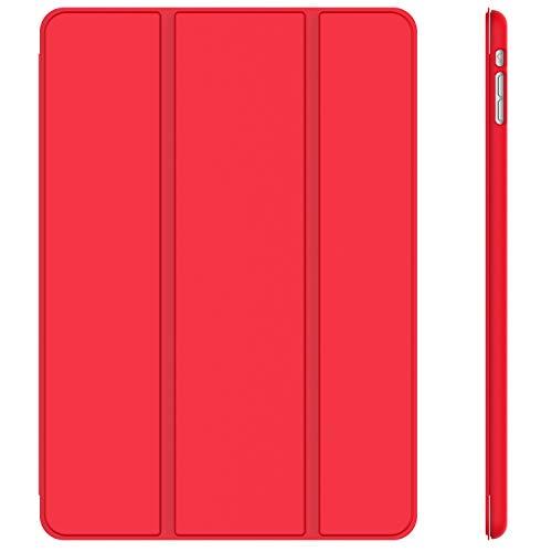 JETech Hülle Kompatibel iPad Mini 1 2 3, Schutzhülle mit Ständer Funktion und Auto Einschlafen/Aufwachen (Rot)