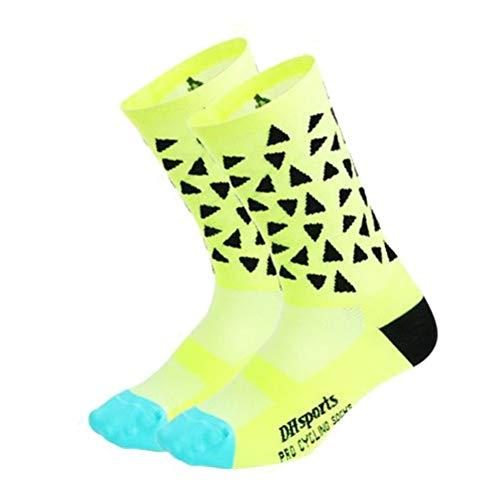 Aesy Calcetines Deportivos para Hombres Mujer, Vestir Resistente Respirable Mediados Longitud Formación Calcetines, para Al Aire Libre Deportes Equitación Runing Excursionismo Alpinismo Carreras (C2)