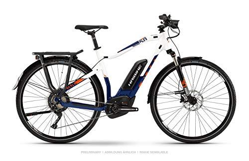 HAIBIKE Sduro Trekking 5.0 Pedelec E-Bike Fahrrad weiß/blau/orange 2019: Größe: S