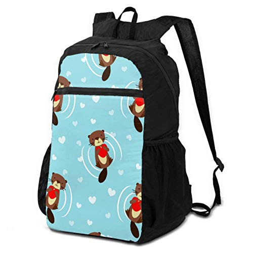 JOCHUAN Hiking Bags for Girls Cartoon Cute Funny Slowly Animal Otter Daypack Travel Pack Women Travel Daypack Lightweight Waterproof for Men & Womentravel Camping Outdoor