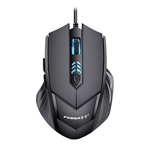 Souris LED Wired Professional 6 Boutons 2400 DPI réglable Souris Gaming Silencieux Optique for Le Haut de Gamme Professional Gaming Joueurs Souris (Color : Black)