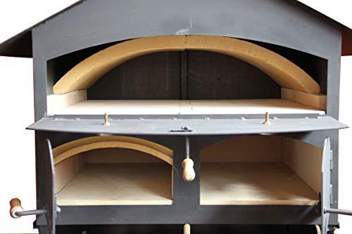 Ramster Holzbackofen Pizzaofen Flammkuchenofen 60x80 + VOLLAUSSTATTUNG + ZUBEHÖR