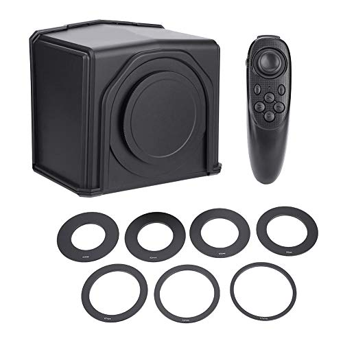 Teléfono inteligente portátil Teleprompter, Parrot Teleprompter con 8 anillos adaptadores de lentes Soporte Ajuste de velocidad / Página de giro rápido para entrevistas / programas de voz / programas