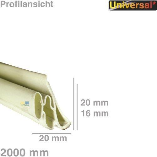 daniplus© Universal Türdichtung 1-seitig für Kühlschrank, 2 Meter Dichtung #1583