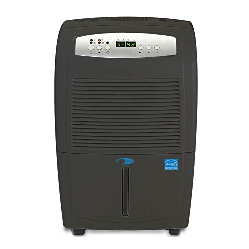 Whynter 50 Pint High Capacity up to 4000 sq ft Gray Portable Dehumidifier with Pump, Black