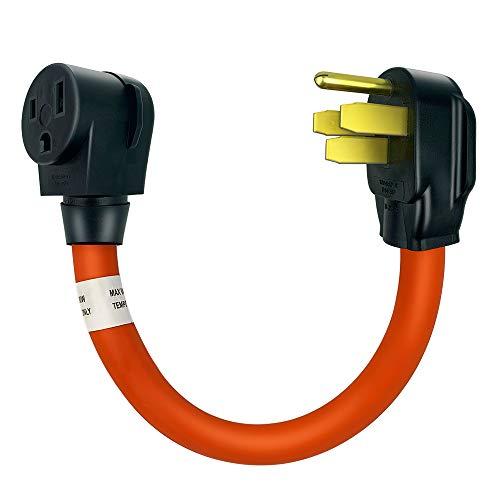 Welder Adapter Cord, Nema 14-50P to 6-50R Welder Adapter Cord, Welder Plug Outlet Adapter Power Cord Heavy Duty STW 8AWG, 50Amp, 250V, 1.5FT